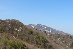 交流センター白雲台から見る金北山